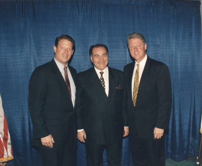 Auchi with former US President Bill Clinton and VP Al Gore