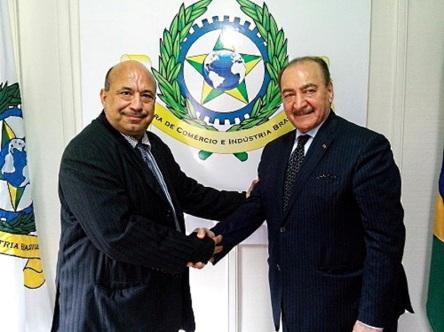 Diretor Presidente da CCIBRA, Ghassan Saab e o empresário Nadhmi Auchi