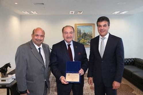 Ghassan Saab, Nadhmi Auchi com o Governador do Paraná, Beto Richa