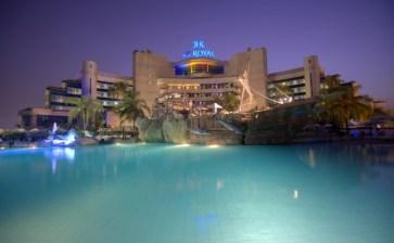 LeRoyal pool at night
