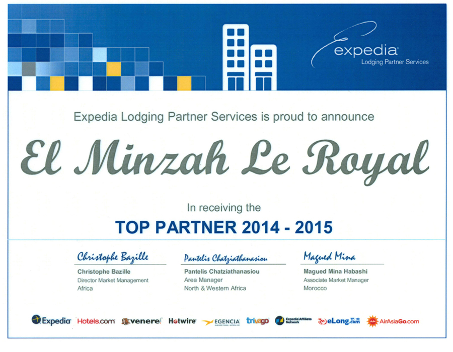 Expedia Top Partner award